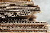 Pile of cardboard closeup — Stock Photo