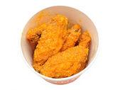Bucket of hot wings — Stock Photo