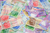 Hong Kong dollar bills background — Stock Photo