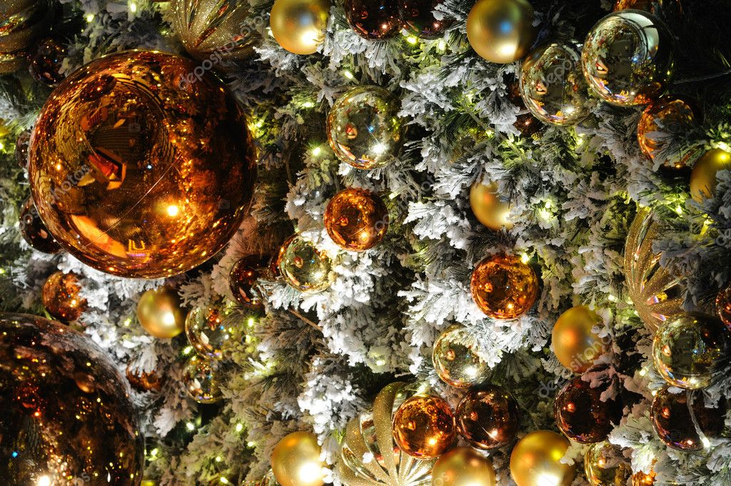 Close up of christmas ornaments and light — Stock Photo #9476157