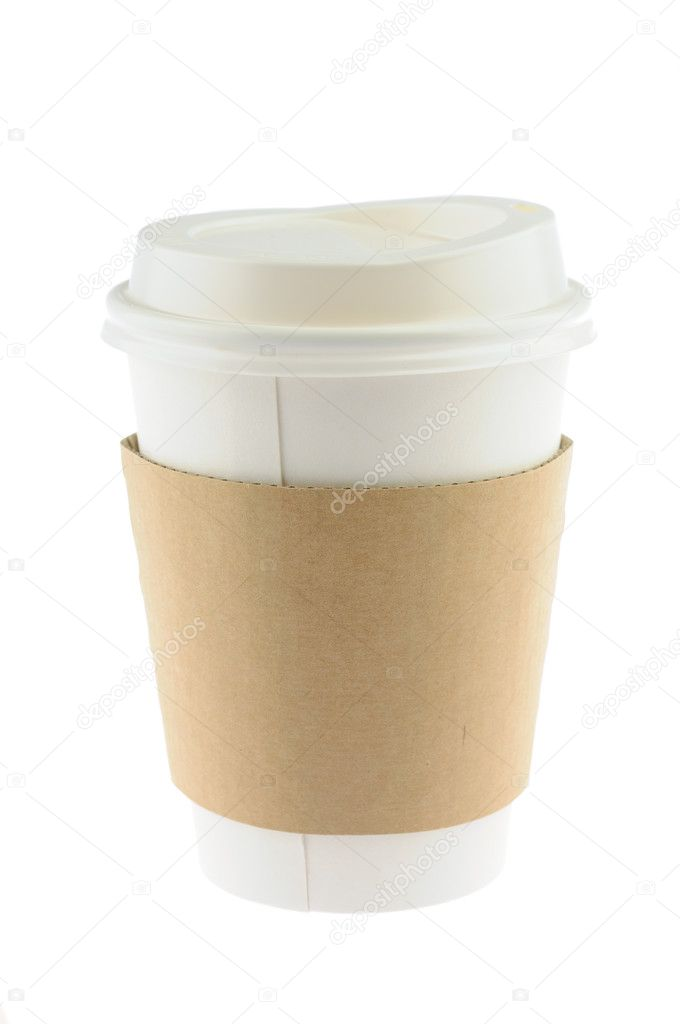 Disposable coffee cup in isolated white background — Stock Photo #9476243