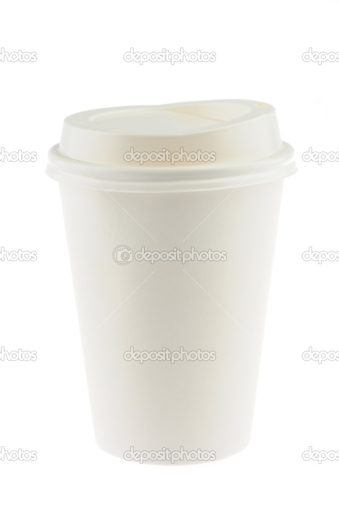 Disposable coffee cup in isolated white background — Stock Photo #9476305