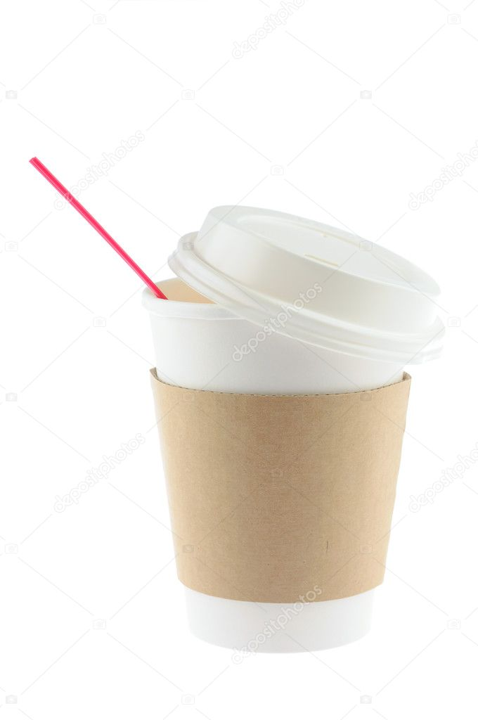 Disposable coffee cup in isolated white background  Stock Photo #9476309