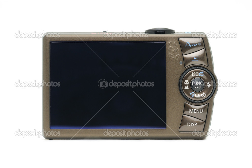 Digital camera LCD screen in isolated white background — Stock Photo #9476475