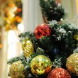 Close up of christmas ornaments — Stockfoto