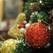 Close up of christmas ornaments — 图库照片