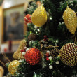 Close up of christmas ornaments — Foto Stock