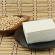 Tofu and soybean — Stock Photo