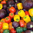 Assorted vegetable background — Stock Photo