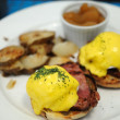 Egg benedict - Stock Photo