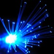 Blue optical fibers — Stock Photo