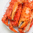 Stock Photo: Alaskking crab legs