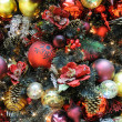 Christmas ornaments on tree — Stock Photo #9621377