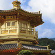 Stock Photo: Golden pavilion in chinese garden