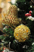 Close up van Kerst ornamenten — Stockfoto