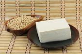 Tofu and soybean — Stock Photo