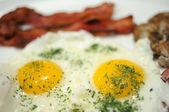 Egg breakfast — Stock Photo