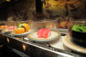 Conveyor belt sushi — Stock Photo