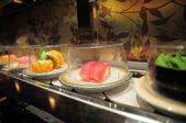 Conveyor belt sushi — Stock Photo