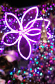 クリスマス ライトの背景 — ストック写真