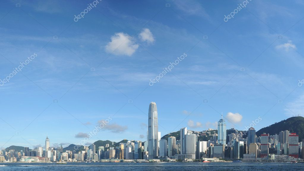 Panorama view of Hong Kong skyline — Stock Photo #9621330