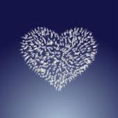 Frozen heart icon — Stock Vector
