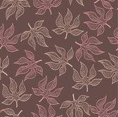 Autumn leaves pattern — Cтоковый вектор