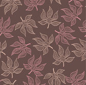 Autumn leaves pattern — 图库矢量图片