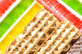Waffle and jelly background (texture) — Stockfoto