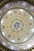 St. Stephen's Basilica, cupola with God fresco — Stock Photo