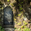 Mysteru door in the forest - Stock Photo