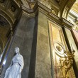 St. Stephen's Basilica interior with statue — Stock Photo