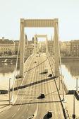 Elizabeth Bridge, Budapest in golden color — Stock Photo