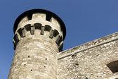 Mittelalterlichen bastion im königlichen palast von buda, budapest, — Stockfoto