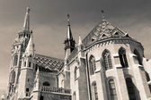 Matthias Church (monochrome), Budapest — Stock Photo