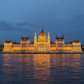 Budapest parliament at nigth with lights — Stock Photo