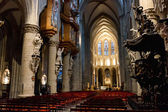 Interior of St. Michael and St. Gudula Cathedral, Brussels — Stock Photo