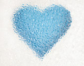 Frozen deep blue heart — Stock Photo