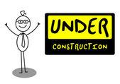 Businessman UnderConstruction — Stock Vector