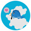 Bird love — Vector de stock #9738036