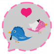 Stock Vector: Bird Couple love