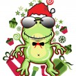 Royalty-Free Stock Vector Image: Frog santa - Vector Version available