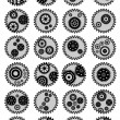 Royalty-Free Stock Vector Image: Set of 24 Gear mechanism