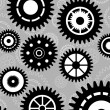 Gear set background wallpaper — Stock Vector