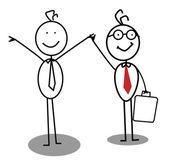 Businessman achievement — Stock Vector