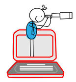 Encontrar la oportunidad de negocios en línea — Vector de stock