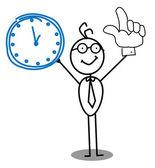 Clock Businessman — Stock Vector