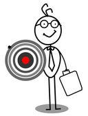 Target Businessman — Stock Vector