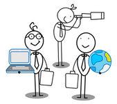 Team work & Opportunity — Stock Vector