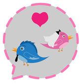 Bird Couple love — Vecteur